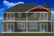 Victorian Style House Plan - 3 Beds 2.5 Baths 4911 Sq/Ft Plan #126-168 Exterior - Rear Elevation