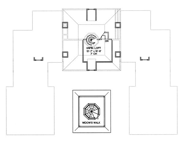 European Floor Plan - Other Floor Plan Plan #20-1117