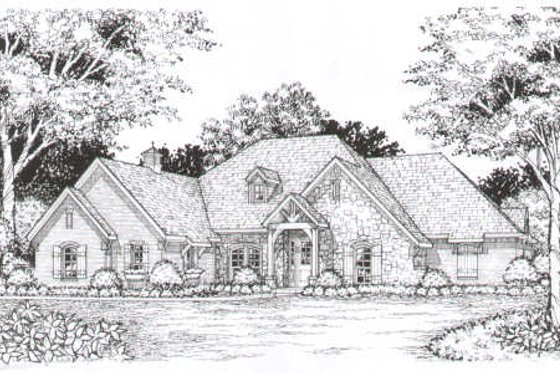European Exterior - Front Elevation Plan #141-269