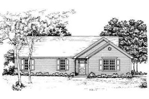Ranch Exterior - Front Elevation Plan #30-116
