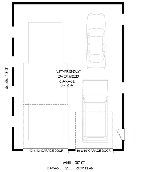 Contemporary Floor Plan - Main Floor Plan #932-109