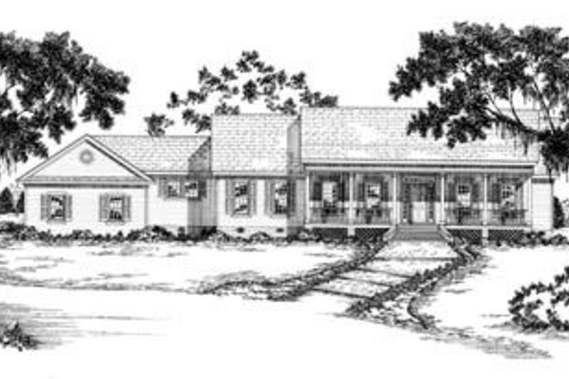 Traditional Style House Plan - 3 Beds 2.5 Baths 2629 Sq/Ft Plan #36-248 Exterior - Front Elevation