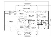 Traditional Style House Plan - 4 Beds 3 Baths 2458 Sq/Ft Plan #17-1178 Floor Plan - Main Floor Plan