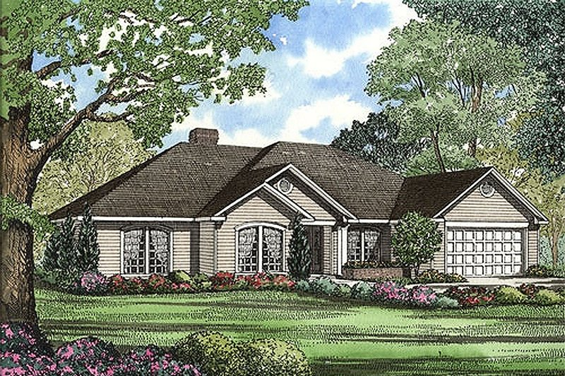 Dream House Plan - Traditional Exterior - Front Elevation Plan #17-148
