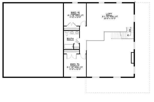 Farmhouse Floor Plan - Upper Floor Plan #1064-111
