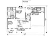 Traditional Style House Plan - 3 Beds 2 Baths 1839 Sq/Ft Plan #30-208 Floor Plan - Main Floor Plan