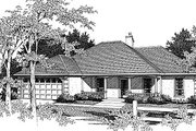 European Style House Plan - 3 Beds 2 Baths 1646 Sq/Ft Plan #14-125 Exterior - Front Elevation