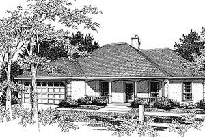 European Exterior - Front Elevation Plan #14-125