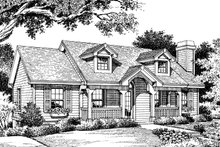 Dream House Plan - Cottage Exterior - Front Elevation Plan #57-151