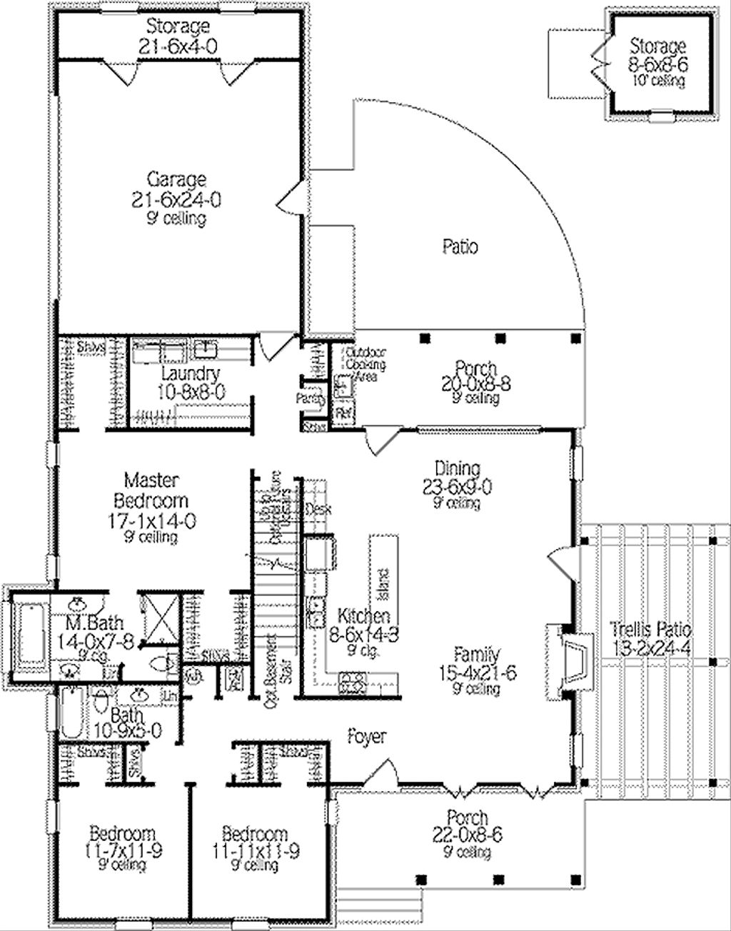 Country style house plan 3 beds 2 baths 2062 sq ft plan for Home plan com