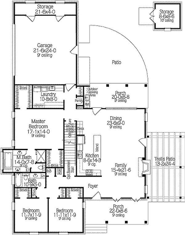 Dream House Plan - Country house plan, floor plan