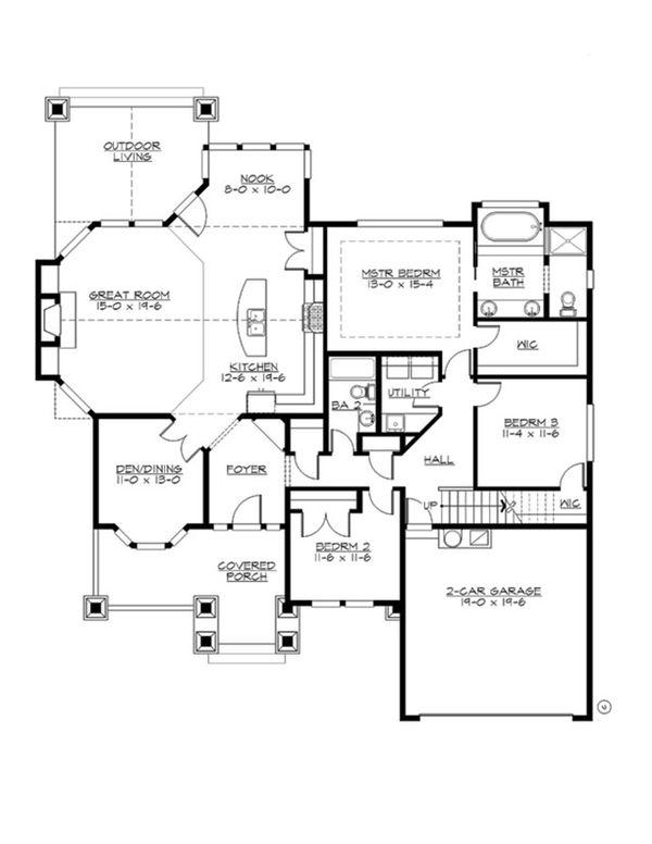Dream House Plan - Craftsman Floor Plan - Main Floor Plan #132-202