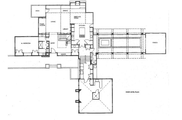 Prairie Floor Plan - Main Floor Plan Plan #454-10
