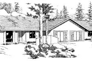 Ranch Exterior - Front Elevation Plan #303-221