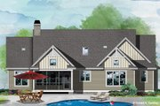 Ranch Style House Plan - 3 Beds 2 Baths 1697 Sq/Ft Plan #929-1109 Exterior - Rear Elevation