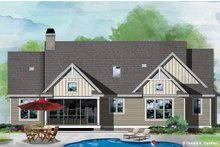 Ranch Exterior - Rear Elevation Plan #929-1109