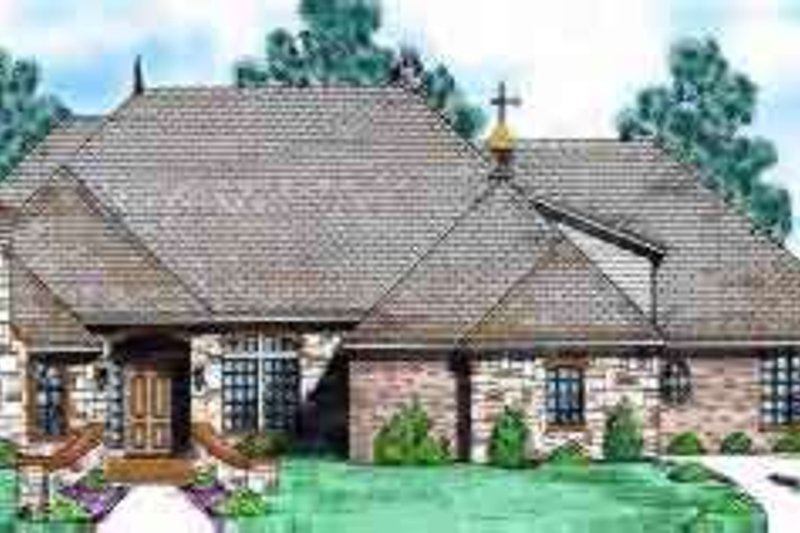 Dream House Plan - European Exterior - Front Elevation Plan #52-171