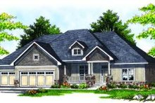 Dream House Plan - European Exterior - Front Elevation Plan #70-821