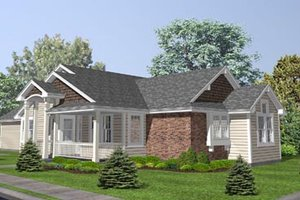 Country Exterior - Front Elevation Plan #50-128