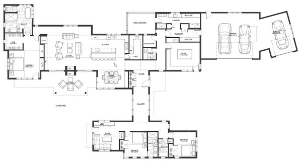 Contemporary Floor Plan - Main Floor Plan Plan #892-21