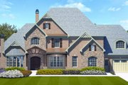 European Style House Plan - 4 Beds 4.5 Baths 4222 Sq/Ft Plan #119-347 Exterior - Front Elevation