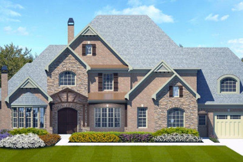 Dream House Plan - European Exterior - Front Elevation Plan #119-347