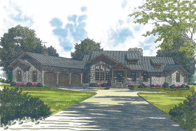 Dream House Plan - Craftsman Exterior - Front Elevation Plan #453-43