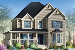Country Exterior - Front Elevation Plan #25-4346