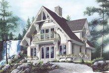Cottage Exterior - Front Elevation Plan #23-2032