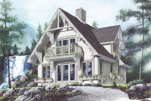 Cottage Exterior - Front Elevation Plan #23-2032