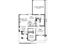 Cottage Floor Plan - Main Floor Plan Plan #70-1074