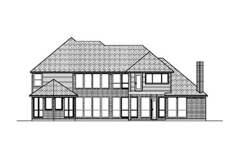 Traditional Exterior - Rear Elevation Plan #84-419 - Houseplans.com
