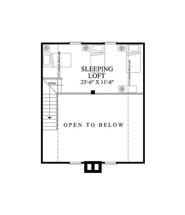 Cabin Floor Plan - Upper Floor Plan Plan #137-295