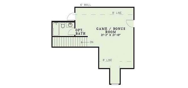 European Floor Plan - Upper Floor Plan Plan #17-293