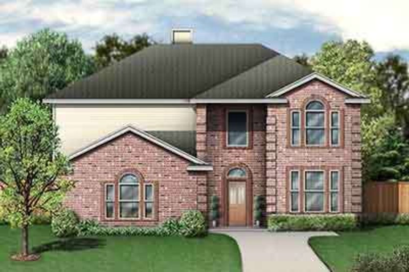European Style House Plan - 5 Beds 3.5 Baths 2500 Sq/Ft Plan #84-235 Exterior - Front Elevation