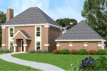 House Plan Design - Traditional Exterior - Front Elevation Plan #45-577