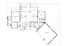 Craftsman Floor Plan - Main Floor Plan Plan #437-104