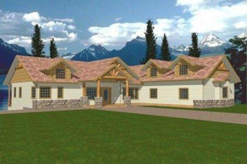 Traditional Exterior - Front Elevation Plan #117-320 - Houseplans.com
