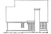Home Plan - Traditional Exterior - Rear Elevation Plan #20-316