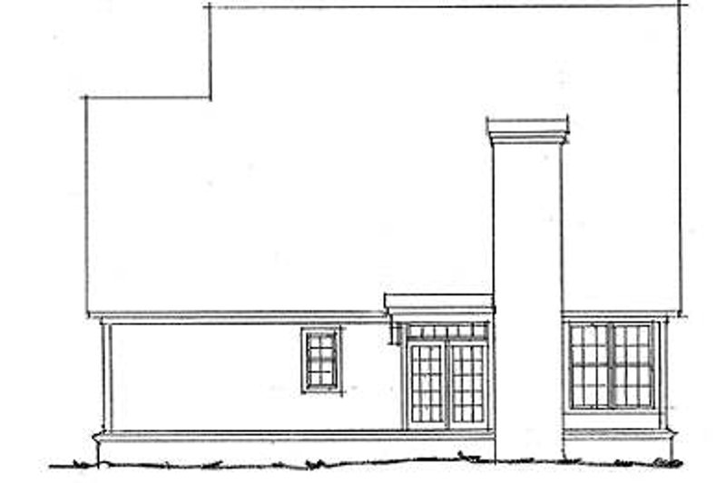 Traditional Exterior - Rear Elevation Plan #20-316 - Houseplans.com