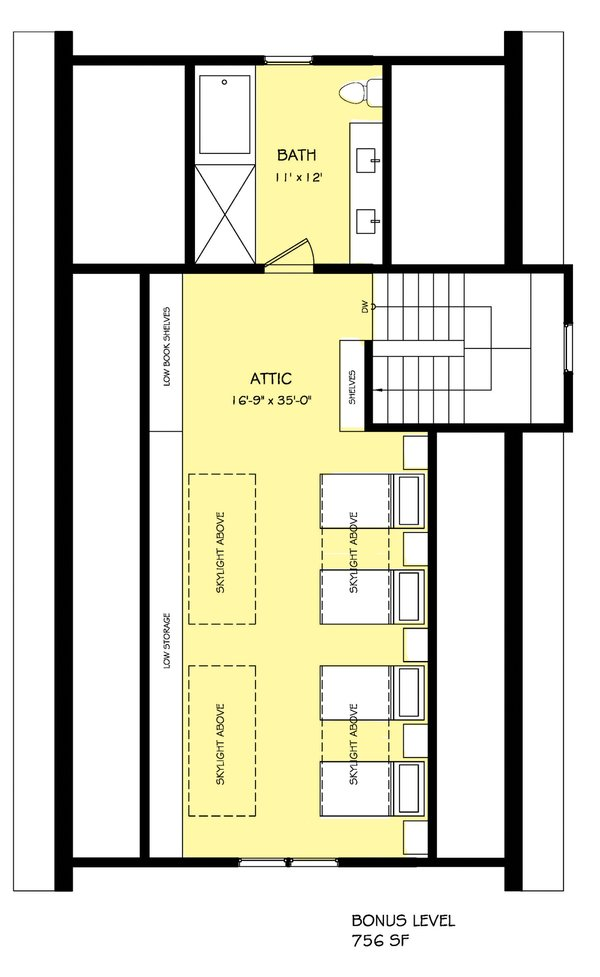 Craftsman Floor Plan - Other Floor Plan Plan #888-12
