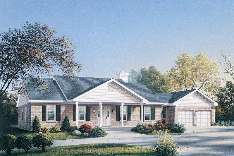 Ranch Exterior - Front Elevation Plan #57-114 - Houseplans.com