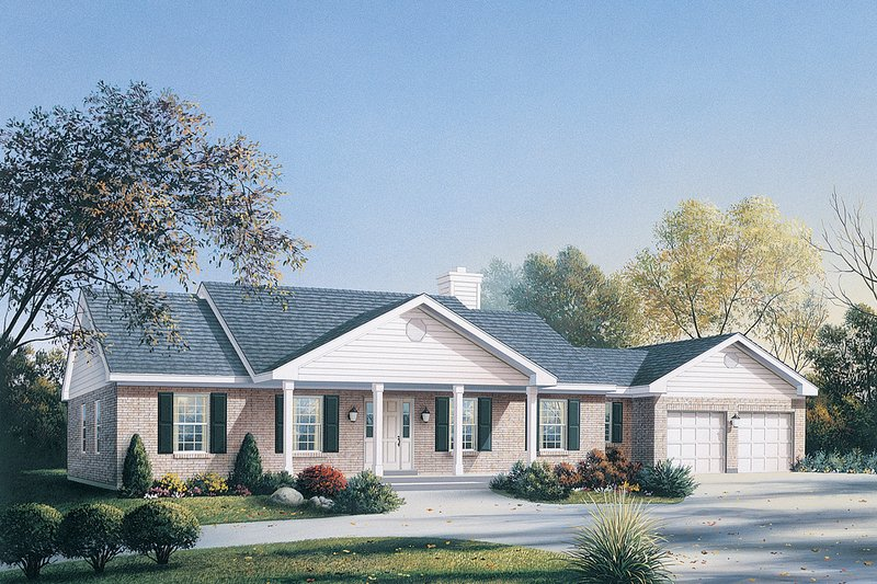 Ranch Style House Plan - 3 Beds 2 Baths 1674 Sq/Ft Plan #57-114