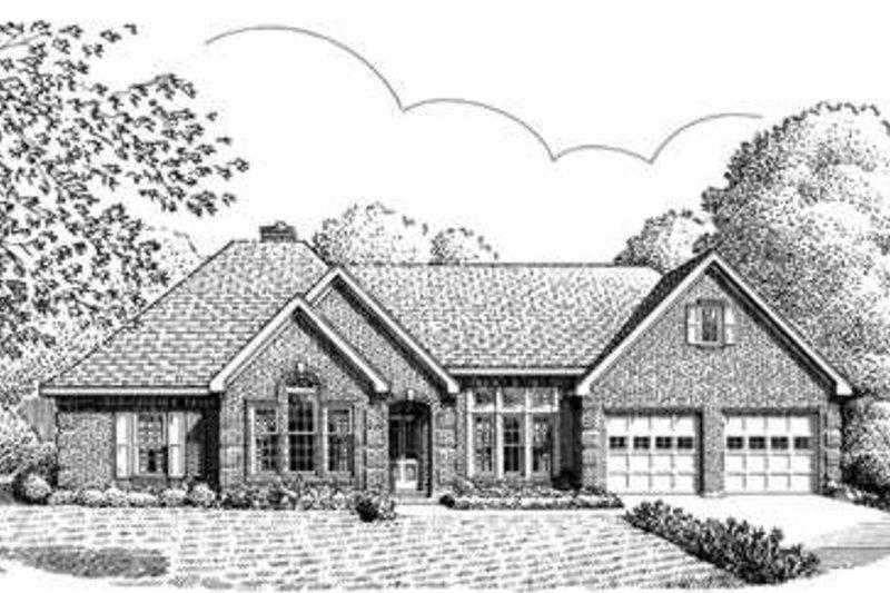 European Exterior - Front Elevation Plan #410-383 - Houseplans.com