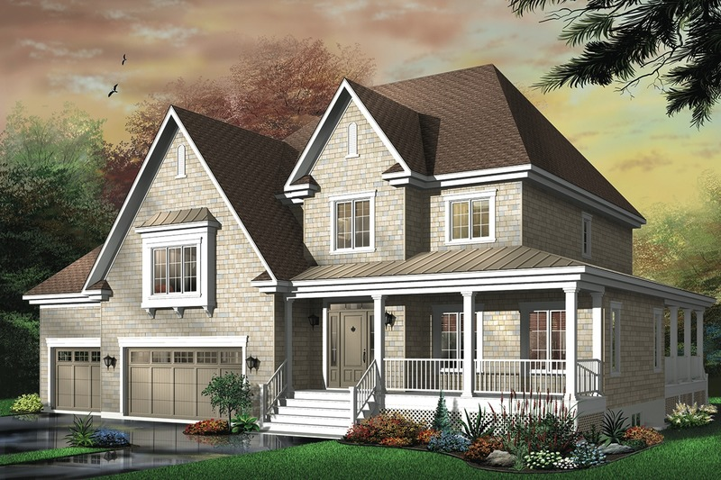 Country Exterior - Front Elevation Plan #23-406