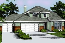 Traditional Exterior - Front Elevation Plan #91-201