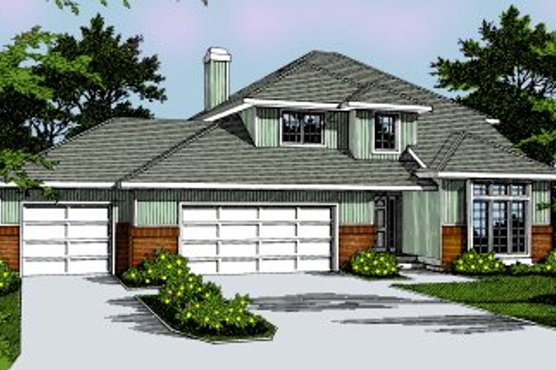 Architectural House Design - Traditional Exterior - Front Elevation Plan #91-201
