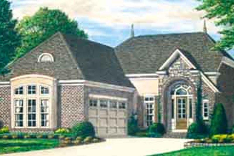 Dream House Plan - European Exterior - Front Elevation Plan #34-191