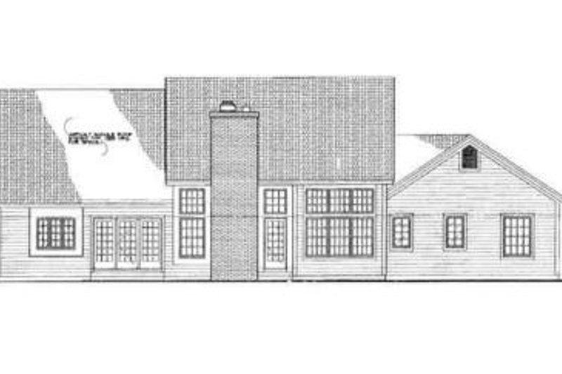 Ranch Exterior - Rear Elevation Plan #72-218 - Houseplans.com
