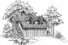 Dream House Plan - Traditional Exterior - Front Elevation Plan #72-241